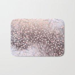 Shiny Spring Flowers - Pink Cherry Blossom Pattern Bath Mat