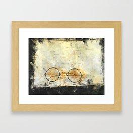Father's Glasses Framed Art Print