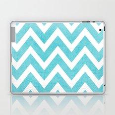 aqua chevron Laptop & iPad Skin