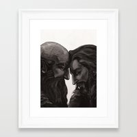 solid Framed Art Prints featuring solid by kassanaka