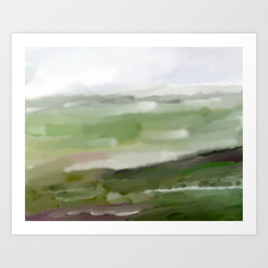 Green land Art Print