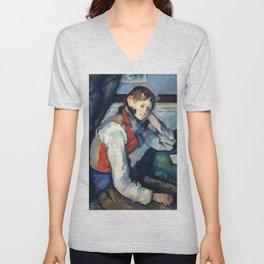 "Paul Cezanne ""Boy in a Red Vest"" Unisex V-Neck"