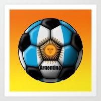 argentina Art Prints featuring Argentina Ball by kuuma