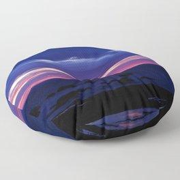Purple Sunset over Sea Floor Pillow