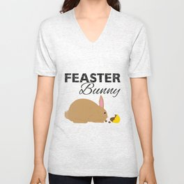 Feaster Bunny Unisex V-Neck