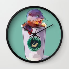Otter Coffee Wall Clock