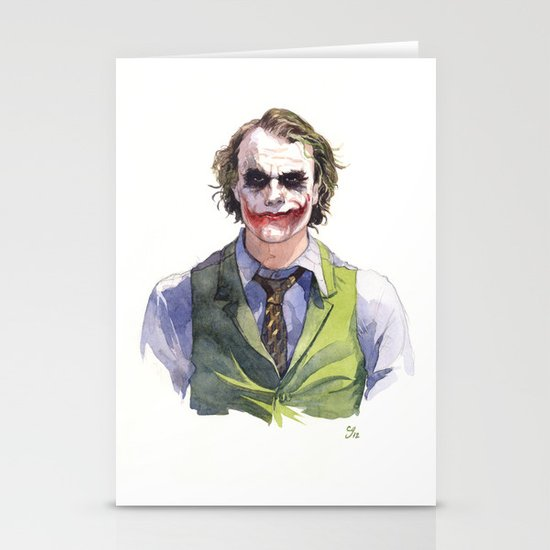 Heath Ledger (The Joker) Stationery Cards