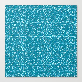 Crosshatch - Teal Canvas Print