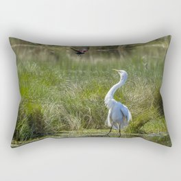 A Disagreement at the Pond Rectangular Pillow