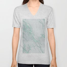 Marble Love Mint Metallic Unisex V-Neck