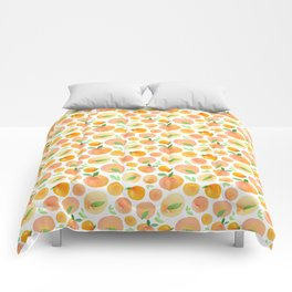 Watercolor Peaches Pattern Comforters