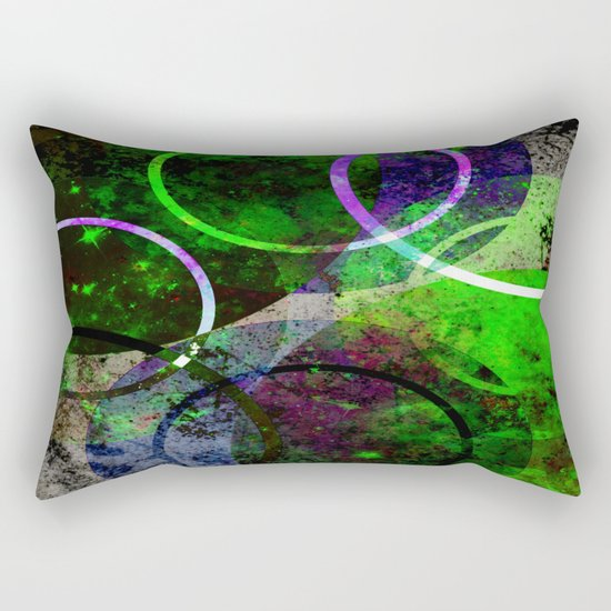 Other Dimensions - Abstract, geometric, textured, space themed artwork Rectangular Pillow