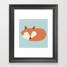 Sleepy Red Fox Framed Art Print