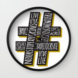 #Travel Wall Clock