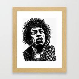 Jimi Hendrix Pop-Art Framed Art Print