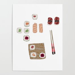 Japanese Sushi Poster