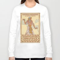 egypt Long Sleeve T-shirts featuring EGYPT by Kathead Tarot/David Rivera