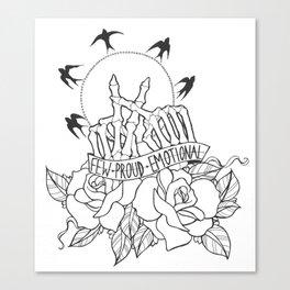 few, proud, emotional Canvas Print