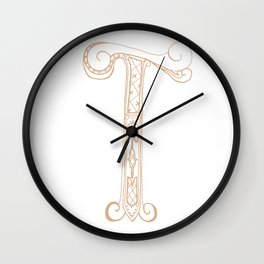 Fancy T Wall Clock