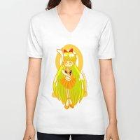 sailor venus V-neck T-shirts featuring Sailor Venus by Glopesfirestar