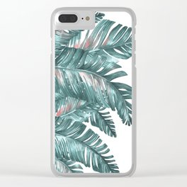 tropical blue Clear iPhone Case