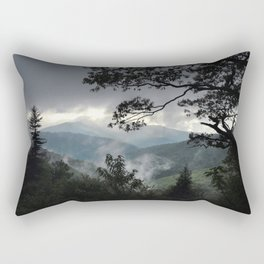 Cold Mountain from the Blue Ridge Parkway Rectangular Pillow