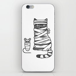 Mummy Cat & Mummy Mouse – Silent Horror iPhone Skin