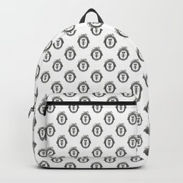 Queen Bee | Vintage Bee with Crown | Black, White and Grey | Backpack