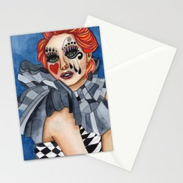 Harlequin - watercolor Stationery Cards