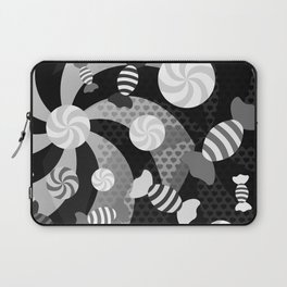Black and White Sugar Crush Laptop Sleeve