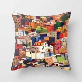 Mexico historical town cityscape (Guanajuato) Throw Pillow