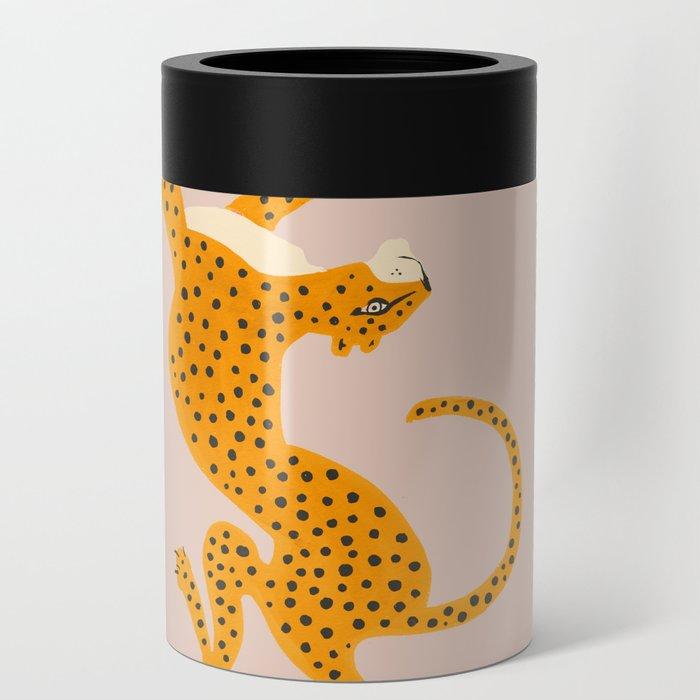 Leopard Race - pink Can Cooler