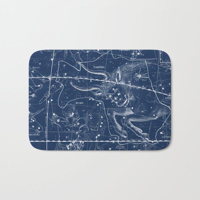 Taurus sky star map Bath Mat