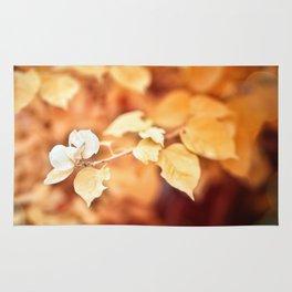 golden flower Rug