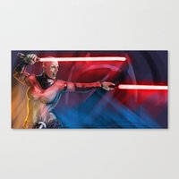 sith Canvas Prints featuring sith queen by rnlaing
