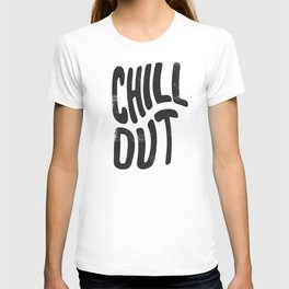 Chill Out Vintage Black and White T-shirt