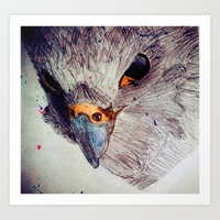 falcon Art Prints featuring Falcon by Aaron Carberry