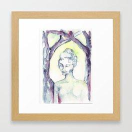 Ghoast in the Woods Framed Art Print