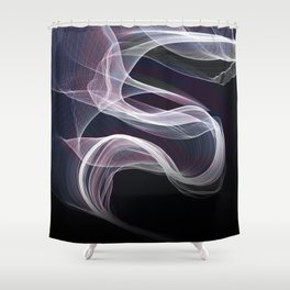 Moody & Beautiful Smoky lacy flux - black, blue, pink #abstractart Shower Curtain