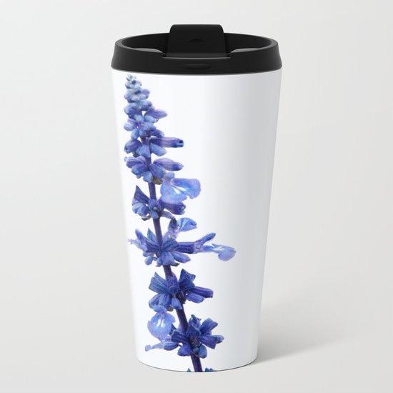 Blue Flower #1 #decor #art #society6 Metal Travel Mug