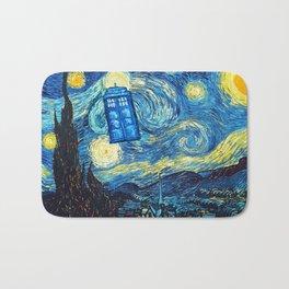 STARRY NIGHT TARDIS Bath Mat