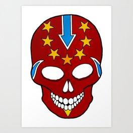 Knievel Skull Art Print