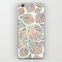Soft Color Abstract Leaf Scatter iPhone Skin