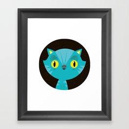 Gatito Framed Art Print