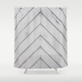 Wooden pattern - arrow shape, art decor Shower Curtain