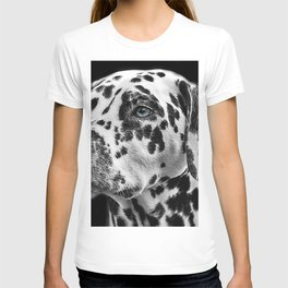 Dalmatian with One Blue Eye Portrait Photograph T-shirt