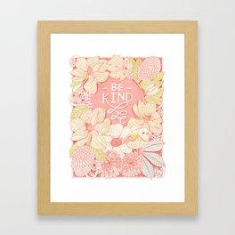 Be Kind Magnolia Blossom Illustration Framed Art Print