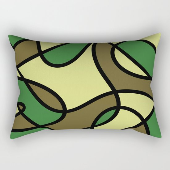 Camo Curves - Abstract, camouflage coloured pattern Rectangular Pillow