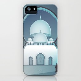 Grand mosque Abu Dhabi illustration iPhone Case