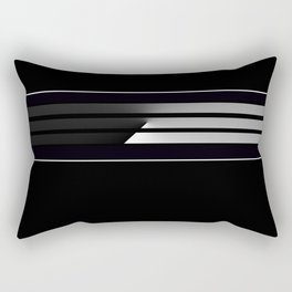 Team Colors 5,,,Black  and white Rectangular Pillow